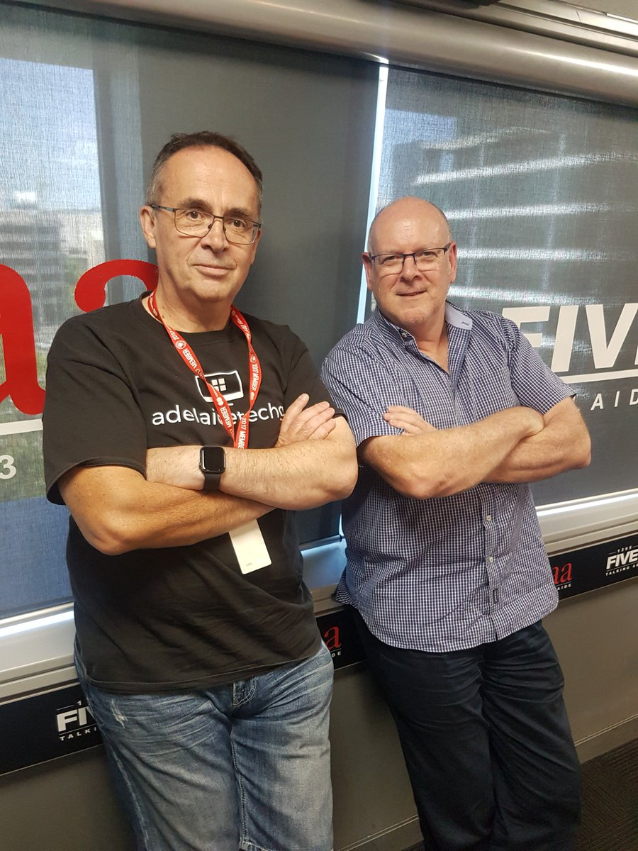 NOW: @Adelaidetechguy with @AlanHickey5aa in the studio for Tech Talkback thanks to @EpsonAust and @HarveyNormanAU taking your calls 82230000