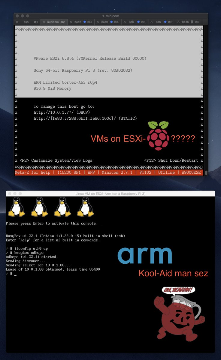 It S An Arm World Virtualized On Twitter Running Vms Under Esxi Arm Isn T Really That Exciting It Just Works Tm And Is Kind Of Boring Esp With Sbsa And All The Commercial Linux