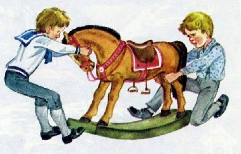 Рассказ толстого был у пети и миши конь в картинках, днем