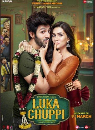 Lets get ready via @Aparshakti  Presenting the first poster of #LukaChuppi! Trailer Out Tomorrow!  @TheAaryanKartik @kritisanon #DineshVijan  @MaddockFilms @PVijan   @sharadakarki @Laxman10072  @TripathiiPankaj  @pathakvinay @TSeries @JioCinema