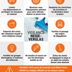 Image for the Tweet beginning: ⚠️🌨️21 départements en #vigilanceorange #neige