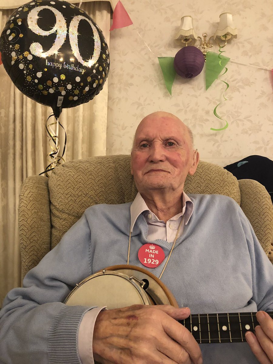 And here he is... 'UkuleLee!' My dad at 90 with his 'banjolele' still thrashing out some George Formby tunes #Alzheimers #musicforthebrain #whatmakesyouhappy #musicforthesoul #memories #georgeformby #ukulele @alzheimerssoc @AlzheimerEurope #music4dem2020 @CarersLeeds @mickmodern<br>http://pic.twitter.com/n7EgQz65hs