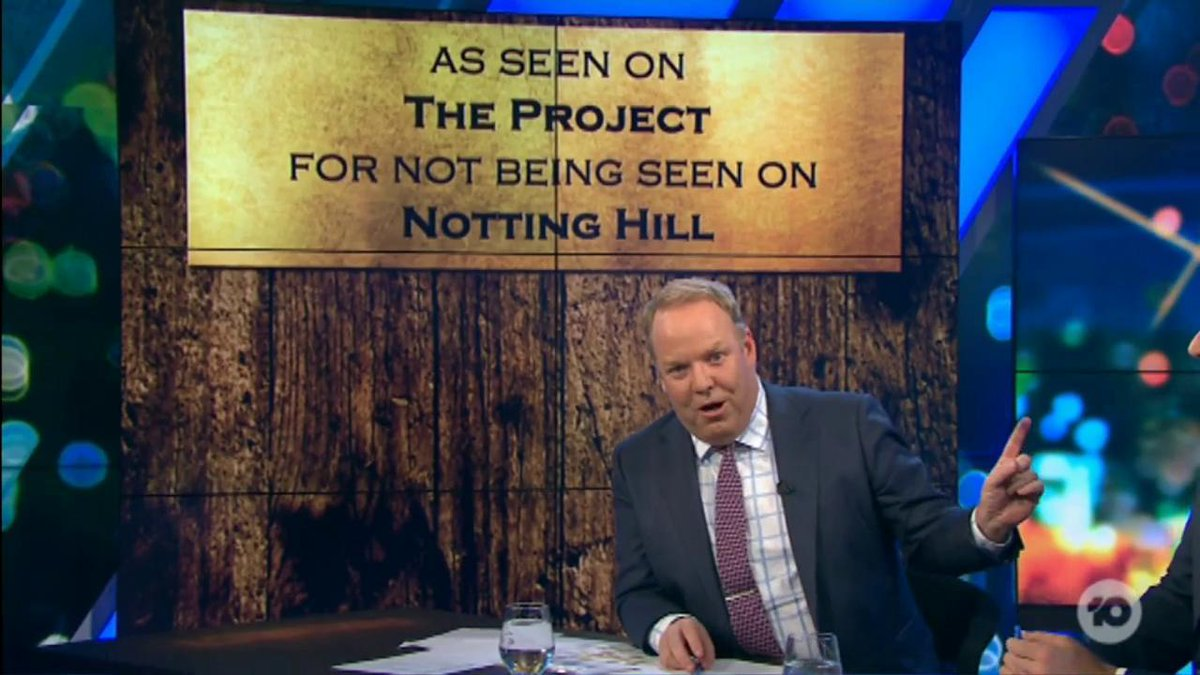We were so sorry to hear that the Notting Hill bench in Perth wasn't actually from the movie!... but never fear, @pjhelliar has a new plaque for you! #TheProjectTV