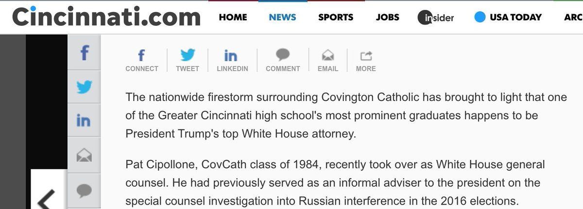 What a coincidence! The guy who replaced Don McGahn as White House Counsel graduated from Covington Catholic. Weird!