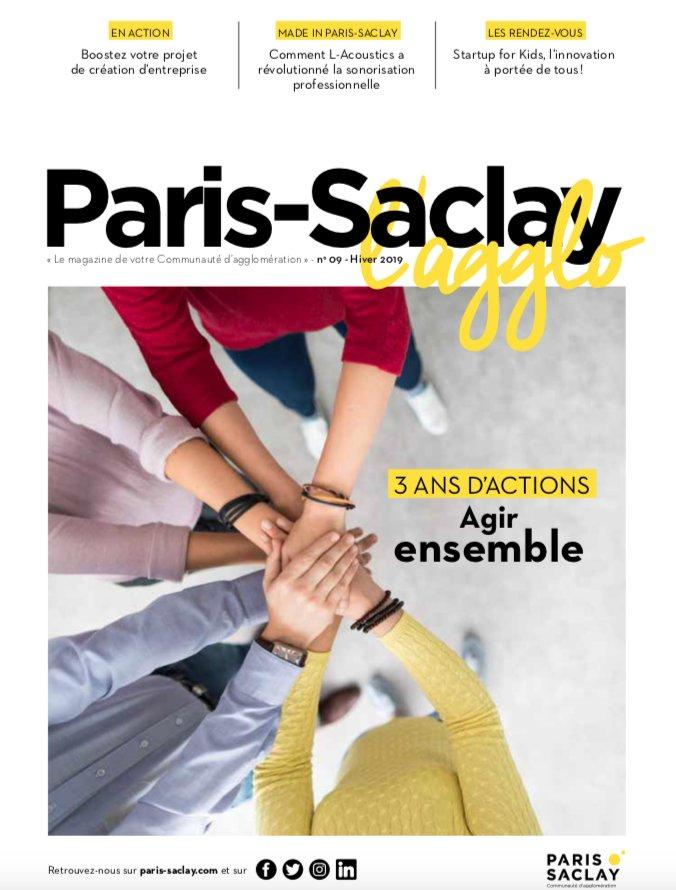 Le n°9 du magazine de @ComParisSaclay est sorti ! #madewithcitizenpressAu sommaire : retour sur 3 années d'actions, focus sur @StartupForKids et toute la vie de la communauté d'agglomération de #ParisSaclay 📖 : bit.ly/2sGPzWY https://t.co/N9arTcjUpd