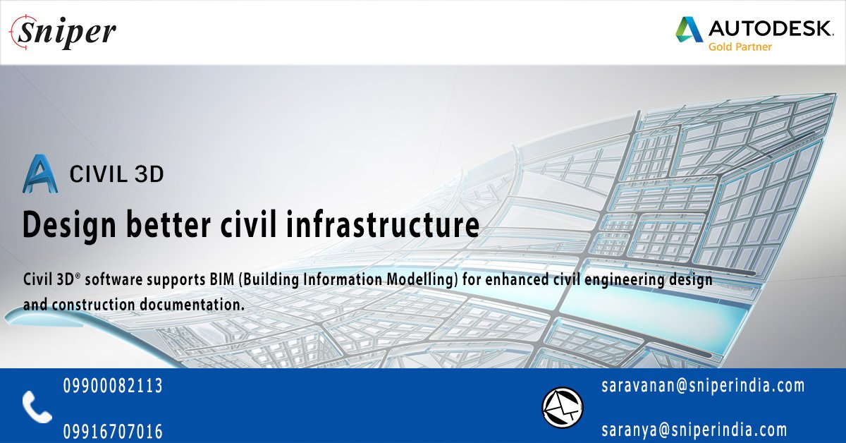 Sniperindia On Twitter Autocad Civil 3d Software Is A Design And Documentation Solution For Civil Engineering That Supports Building Information Modeling Bim Workflows With Autocad Autodeskcivil3d Sniperindia Autodesk Civil3d Https T Co