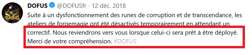 Dofus On Twitter Suite à Un Dysfonctionnement Des Runes De