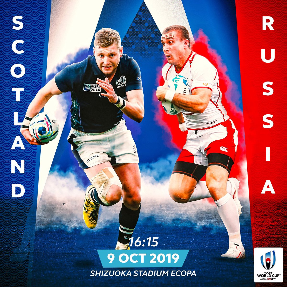test Twitter Media - The first come, first served #RWC2019 ticketing window is still open.   Match Focus 🔍  @Scotlandteam v @russiarugby  📍 Shizuoka Stadium Ecopa  🗓 09 Oct, 16:15hrs (GMT+9)  https://t.co/wiftbbRu2B https://t.co/omWDSp0Fy8