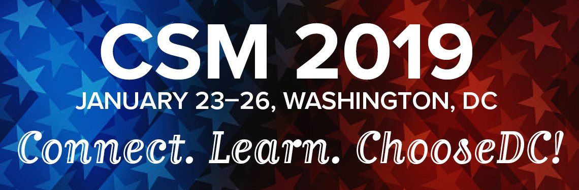 Early flight out to join some of the best and brightest at CSM 2019 for a few days. DC, here I come!