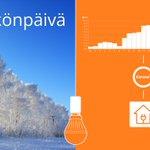 Image for the Tweet beginning: Sähköistä #sähkönpäivä'ä!  #Energiatehokkuus ja ympäristöystävällisemmän #sähkö'n
