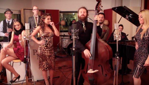 La formation californienne Scott Bradlee's Postmodern Jukebox en trois temps: un supergroupe aussi festif que vintage à voir au @MTELUSmontreal le 1er mars! 🤩 labibleurbaine.com/sorties/la-for…