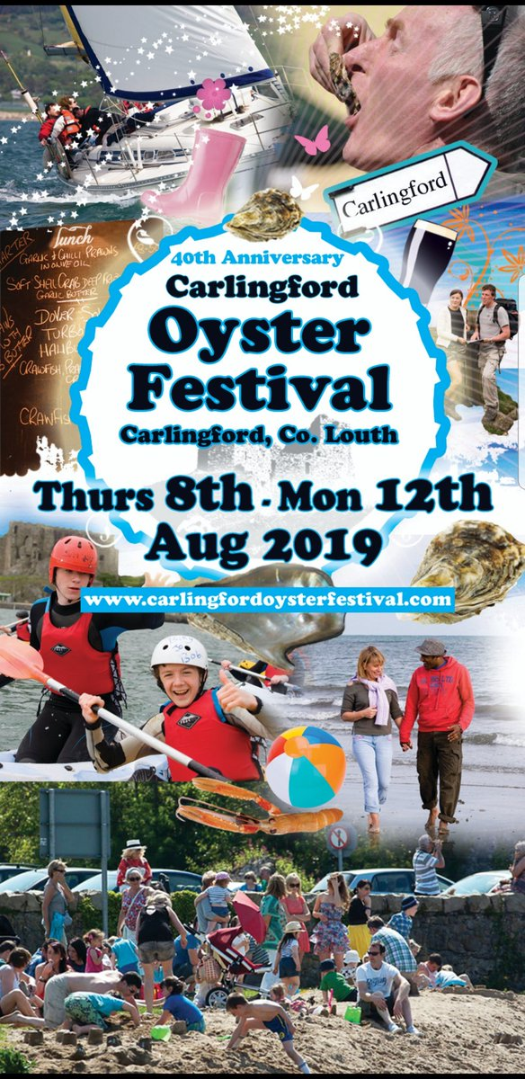 Dates confirmed for Carlingford Oyster Festival 2019  Big news coming soon !! @VisitLouthIE @VisitCford  @CarlingfordAdv @Carlingmourne @TourismIreland @Failte_Ireland @50ShadesOfLouth @LouthCraftmark @louthcoco #carlingfordoysterfestival  #festivals #oysterfestival