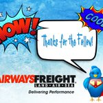 Image for the Tweet beginning: Thank you for following @Airways_Freight