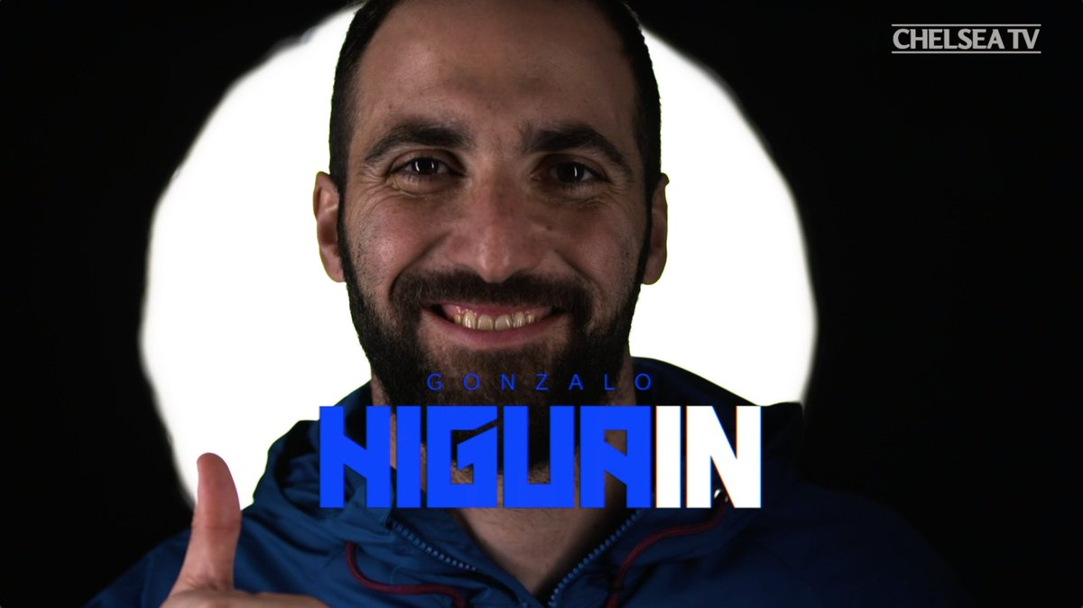 Welcome to London and welcome to Chelsea, @G_Higuain! #HiguaIN