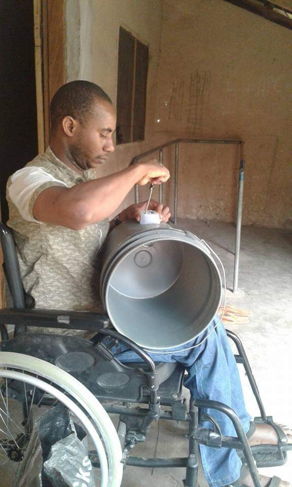 He could've been on THE STREET BEGGING, but he decided to use HIS HANDS to make WATER HEATERS (heater buckets as he fondly calls it) at affordable prices. He can be reached via 08067686839 He Is HANDICAPABLE. FEEL FREE TO SHARE THIS TILL IT GETS TO HIS CUSTOMERS ON YOUR TIMELINE.