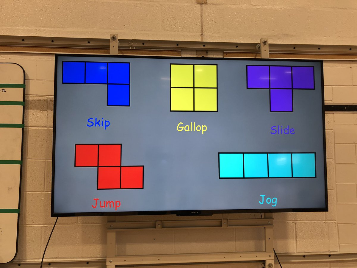 Who says videos games and pe don't go together? Locomotor Tetris with our 3rd graders, grab a piece, figure out which locomotor it is and then work with your team to place the piece <a target='_blank' href='http://search.twitter.com/search?q=Tetris'><a target='_blank' href='https://twitter.com/hashtag/Tetris?src=hash'>#Tetris</a></a> <a target='_blank' href='http://search.twitter.com/search?q=APS'><a target='_blank' href='https://twitter.com/hashtag/APS?src=hash'>#APS</a></a> <a target='_blank' href='http://twitter.com/APSHPEAthletics'>@APSHPEAthletics</a> <a target='_blank' href='https://t.co/uMcABydYKq'>https://t.co/uMcABydYKq</a>