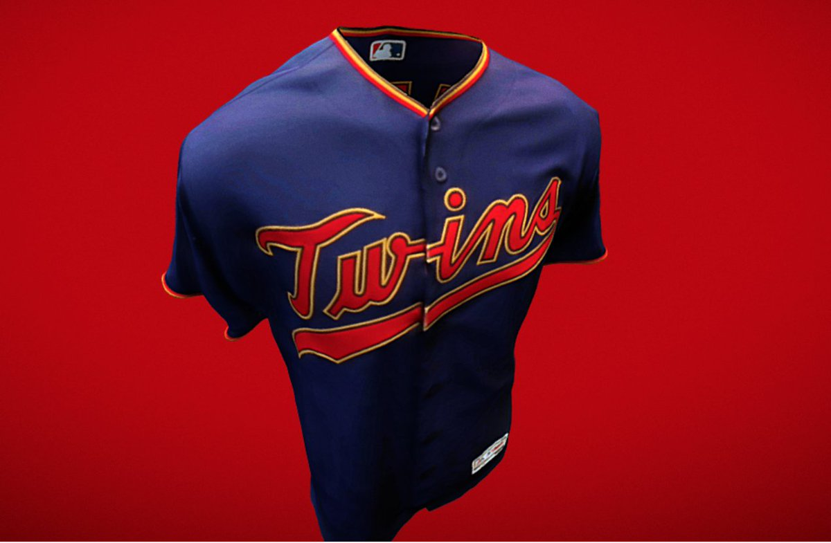 7f7d93c3f57 The @Twins unveil new home alternate unis for 2019 👀  pic.twitter.com/UTjaCikZzd