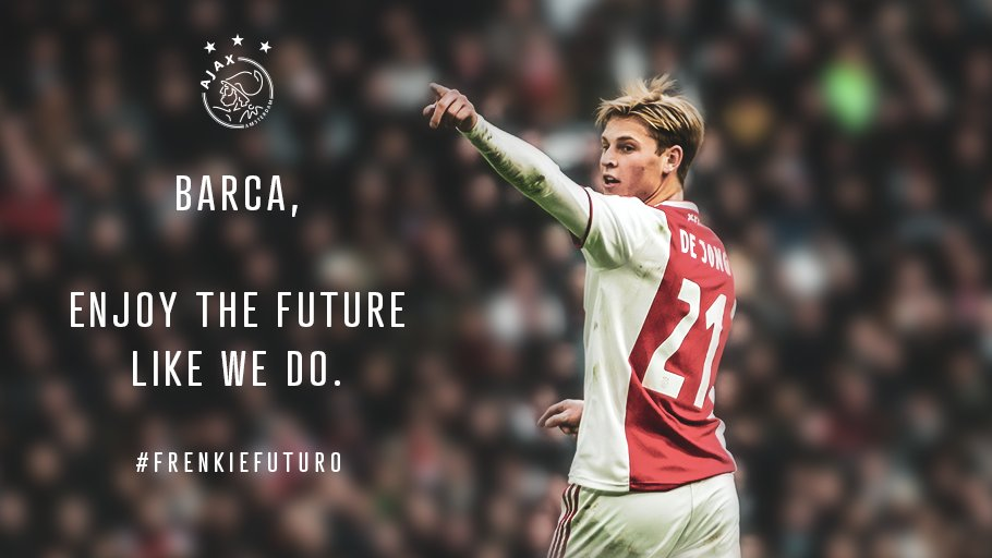 Enjoy the future @FCBarcelona... Congratulations, Frenkie! ❤️  #FrenkieFuturo