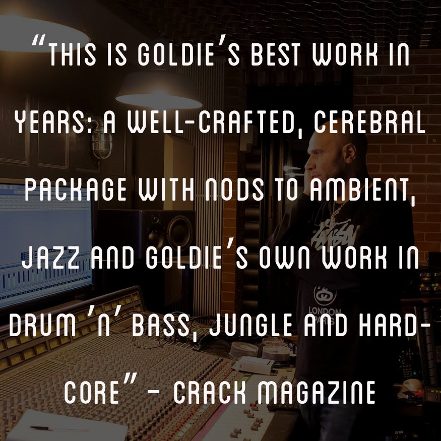 """""""This is @MRGOLDIE's best work in years: a well-crafted, cerebral package with nods to ambient, jazz and Goldie's own work in drum 'n' bass, jungle and hardcore"""" - @CrackMagazine Listen to ACT ONE – MUSIC FOR INANIMATE OBJECTS 👉 lnk.to/Subjective-Act… … 📷 @erichobphoto"""