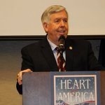 Image for the Tweet beginning: . @GovParsonMO says he'll be