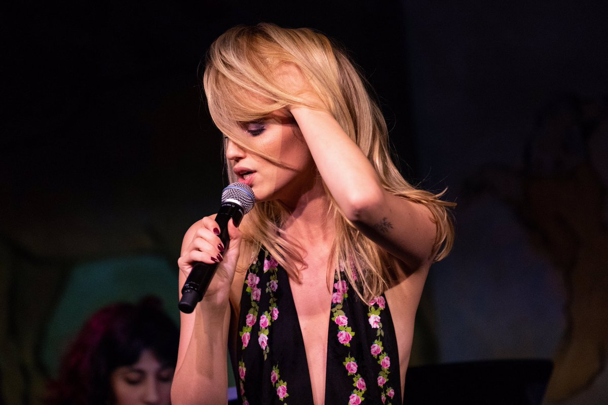 When you need to keep your wig on but also need to sing. @CafeCarlyle