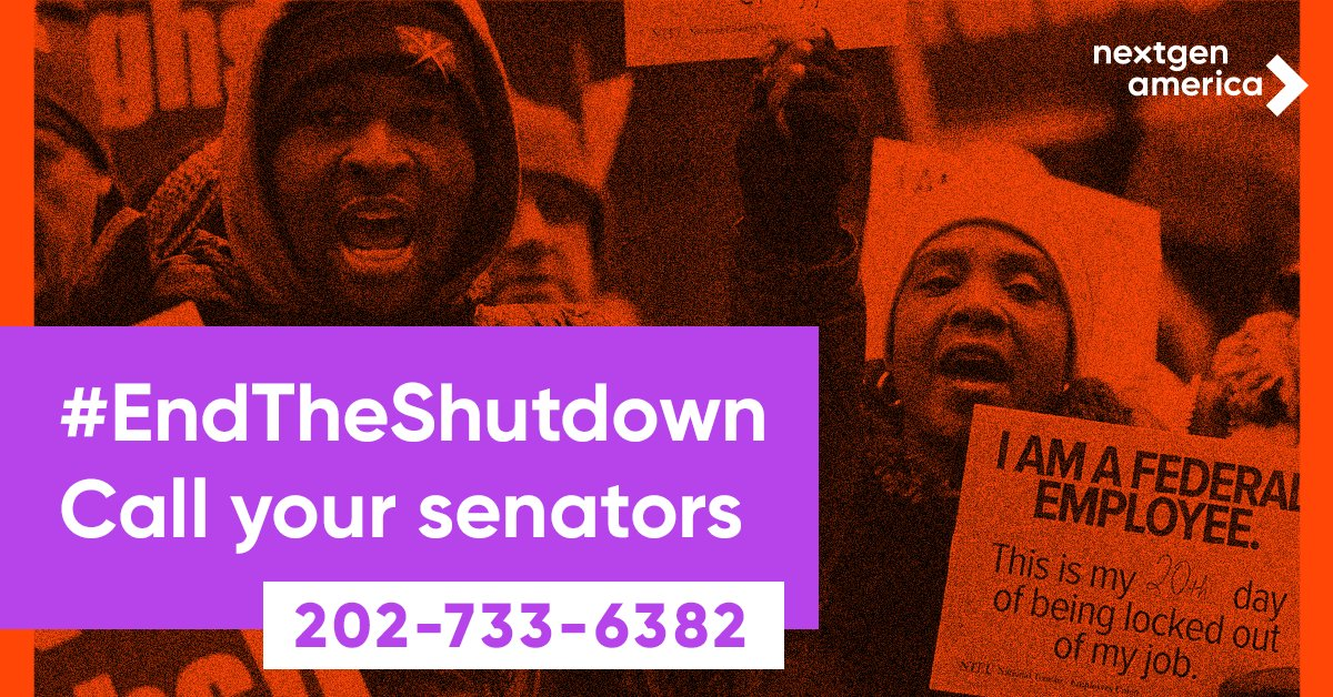 We need our government reopened now - no wall included!   Call your senators at 202-733-6382   #EndTheShutdown