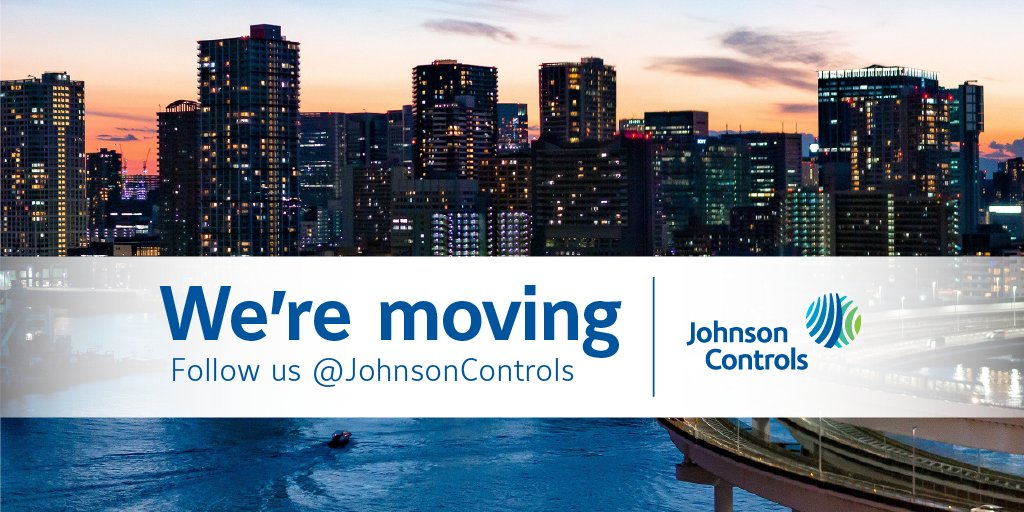 We're moving! Follow us @JohnsonControls for all the news, insights and product update you need to stay in-the-know with Johnson Controls. https://t.co/CKBaudFyb6 https://t.co/zk4Q54ZKs5