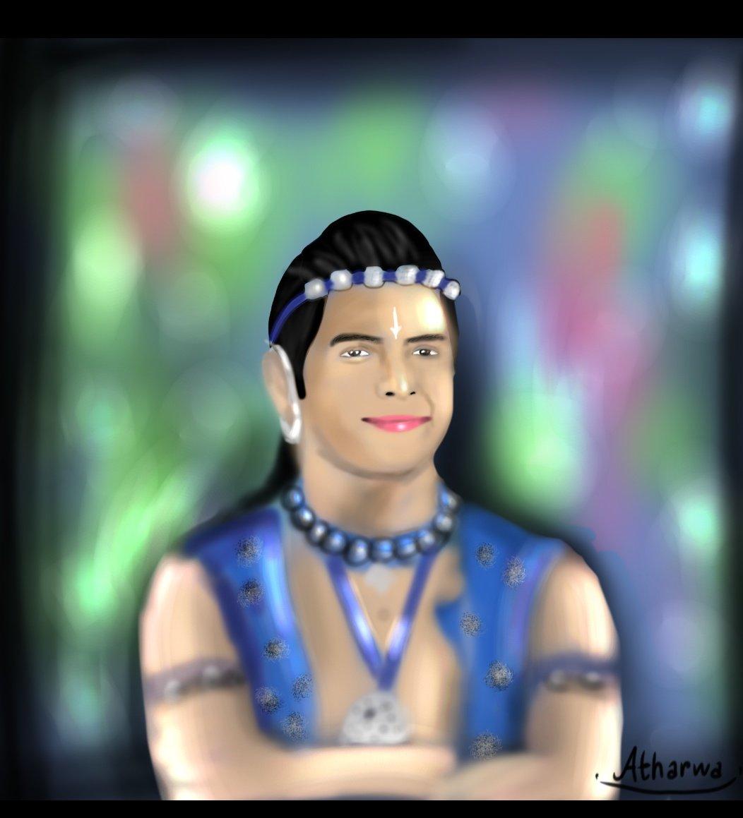 Happy birthday Dau😃 @basantb0208   Digital Illustration on mobile .....😁How is it? #RadhaKrishn