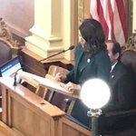 Image for the Tweet beginning: Governor Noem's budget address is