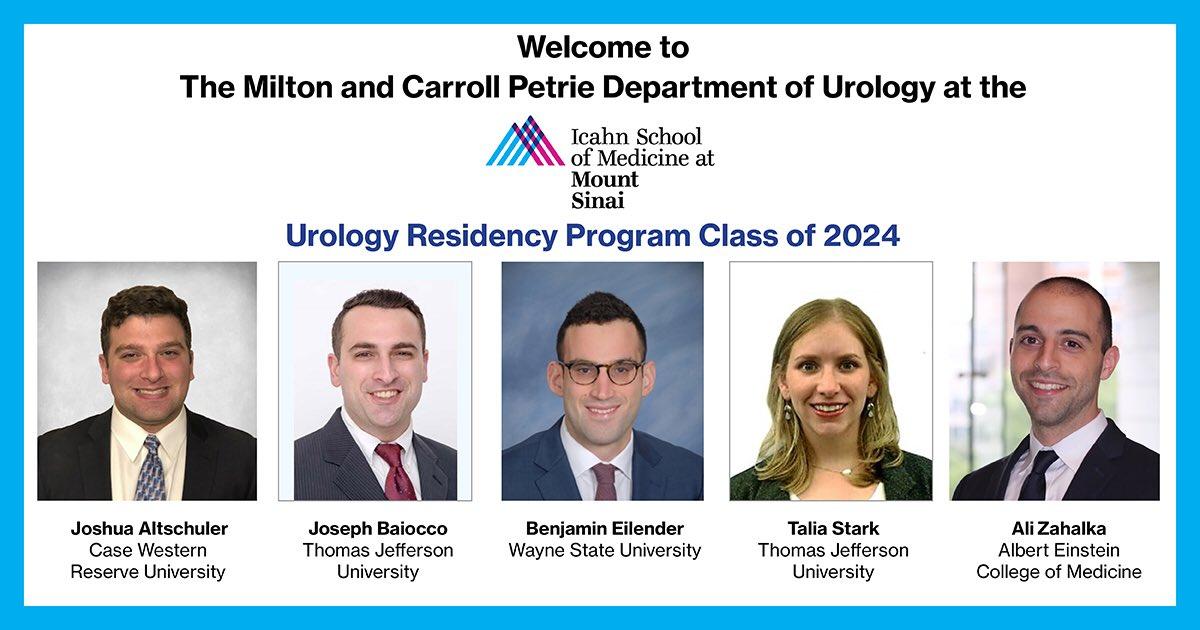 Welcome Urology Residency Program Class of 2024! Joshua