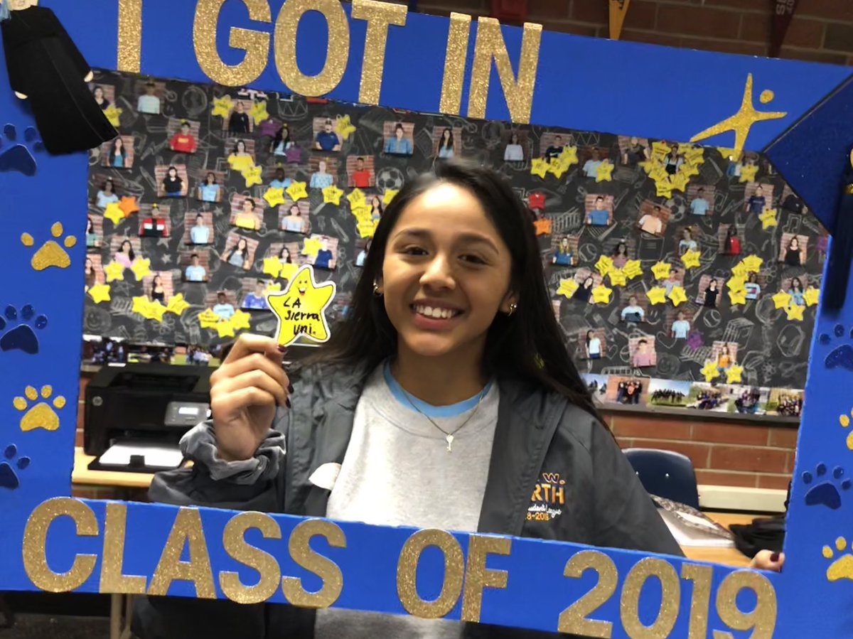 Another for Vanessa! Congrats.!! @LaSierraSFS @JWNorthHS @JWNUSL @NorthCounselors @RUSDLink