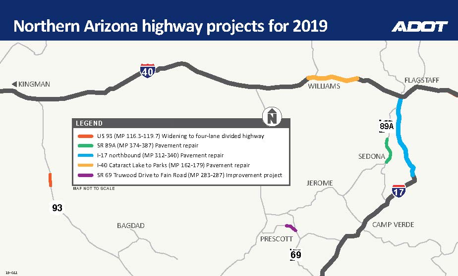 Map Of Arizona Including Jerome.Arizona Dot On Twitter Icymi Yesterday We Told You What To Expect