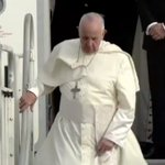 Image for the Tweet beginning: And there he comes… #popefrancis