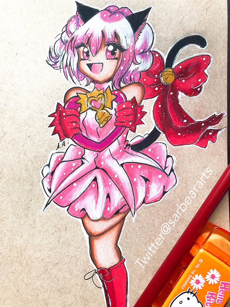 The coloring process is on my youtube link in bio tokyomewmew mewichigo neko animedrawing mangadrawing coloredpencils prismacolor