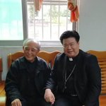 Image for the Tweet beginning: Shantou's two bishops celebrate the
