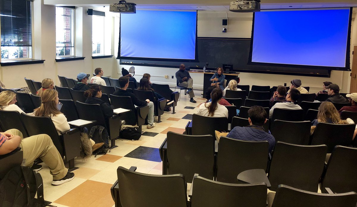What a treat to speak with entrepreneurship students in Professor Bernard Bell's Econ 393 class yesterday. Wonderful questions about leadership, life after graduation and managing challenges. https://t.co/aPEUad090H