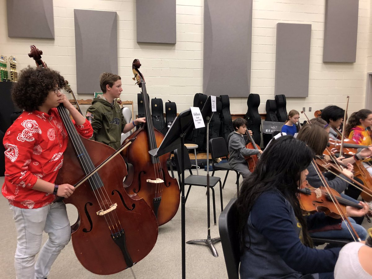 First rehearsal of the 2019 Arlington Honors Orchestra (grades 7 &amp; 8). Concert this Saturday at 4:00 PM at Kenmore MS! <a target='_blank' href='http://twitter.com/APSArts'>@APSArts</a> <a target='_blank' href='https://t.co/mh3ThzHvpe'>https://t.co/mh3ThzHvpe</a>