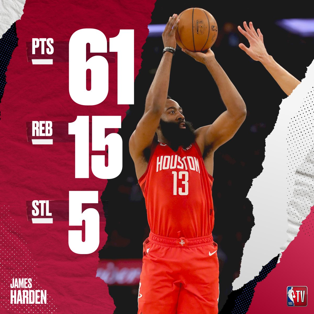 James Harden ties Kobe Bryant for the most points scored by an opponent at MSG! 🚀  #Rockets