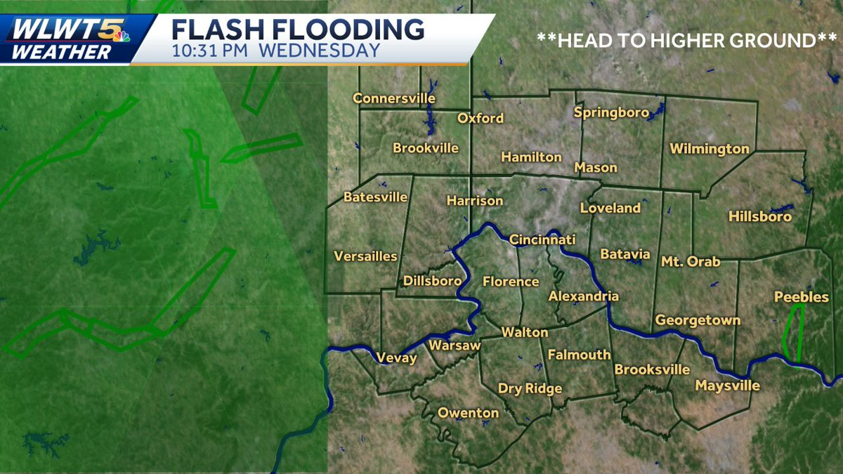 Flooding Is Likely Or Occuring Alerts Radar Wlwt