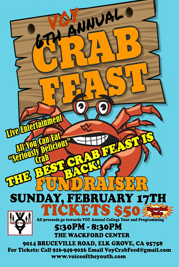 VOY 6th Annual Crab Feast.... The Special sale price of $50 won't last for long....Here is the link to purchase your tickets now..... https://www.paypal.com/cgi-bin/webscr?cmd=_s-xclick&hosted_button_id=BBMFGUYSRQE6S … Ask about our table specials......#voybestCrabFeast #voy6thAnnualCrabFeast #getyourticketsNow