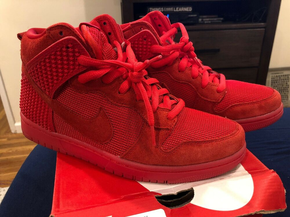 best sneakers 90e6a 7100e ... Nike Men s Dunk CMFT PRM Sz 9 Premium Solar All Red October Yeezy 705433 -601 ...