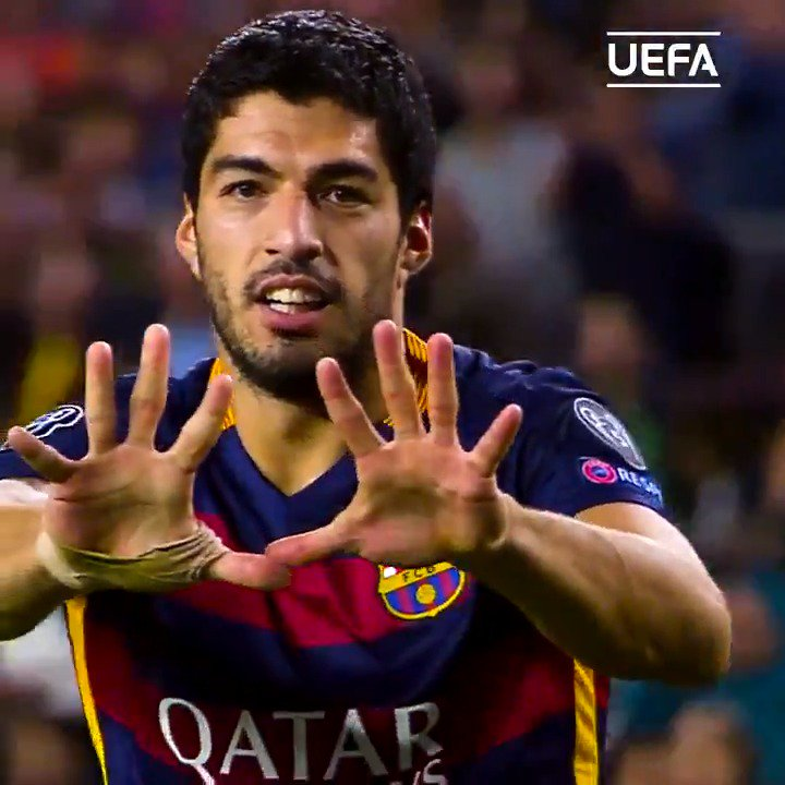 🎁🎂 2015 winner Luis Suárez turns 32 today! 🎉  #UCL @FCBarcelona @AFCAjax