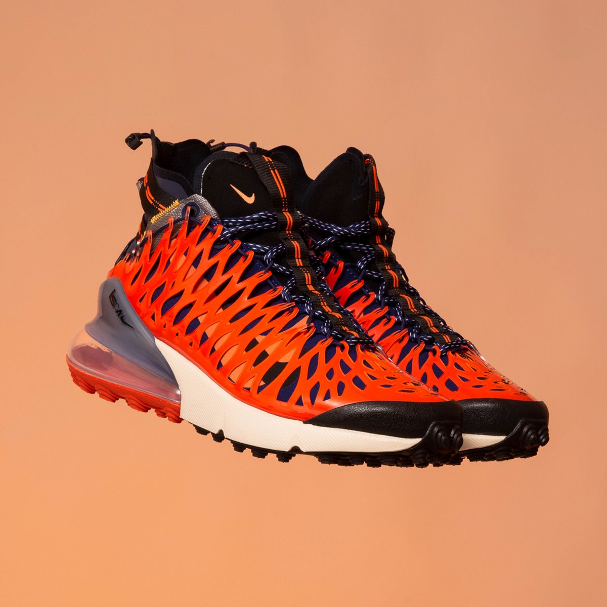 44e87825e26 out now 🔥 Nike Air Max 270 ISPA - Blue Void/Black-Terra Orange ...