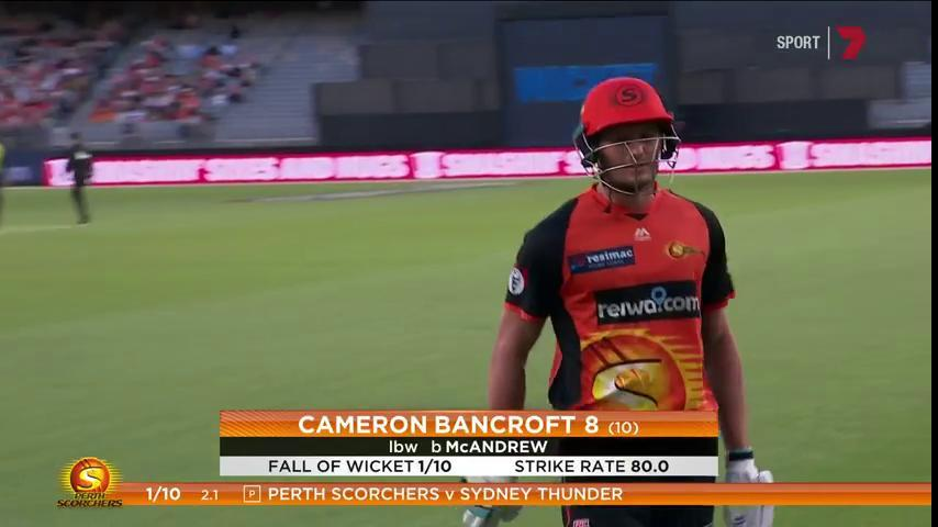 7Cricket On Twitter Bancroft Caught LBW For 8 10 Off The