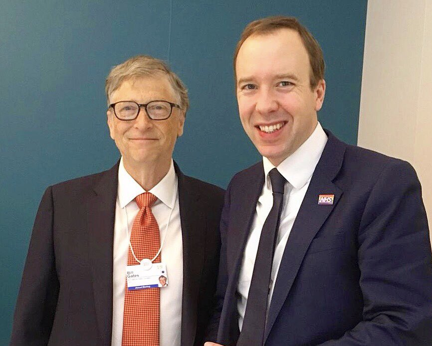 "Matt Hancock on Twitter: ""Terrific to meet @BillGates at #wef19 ..."