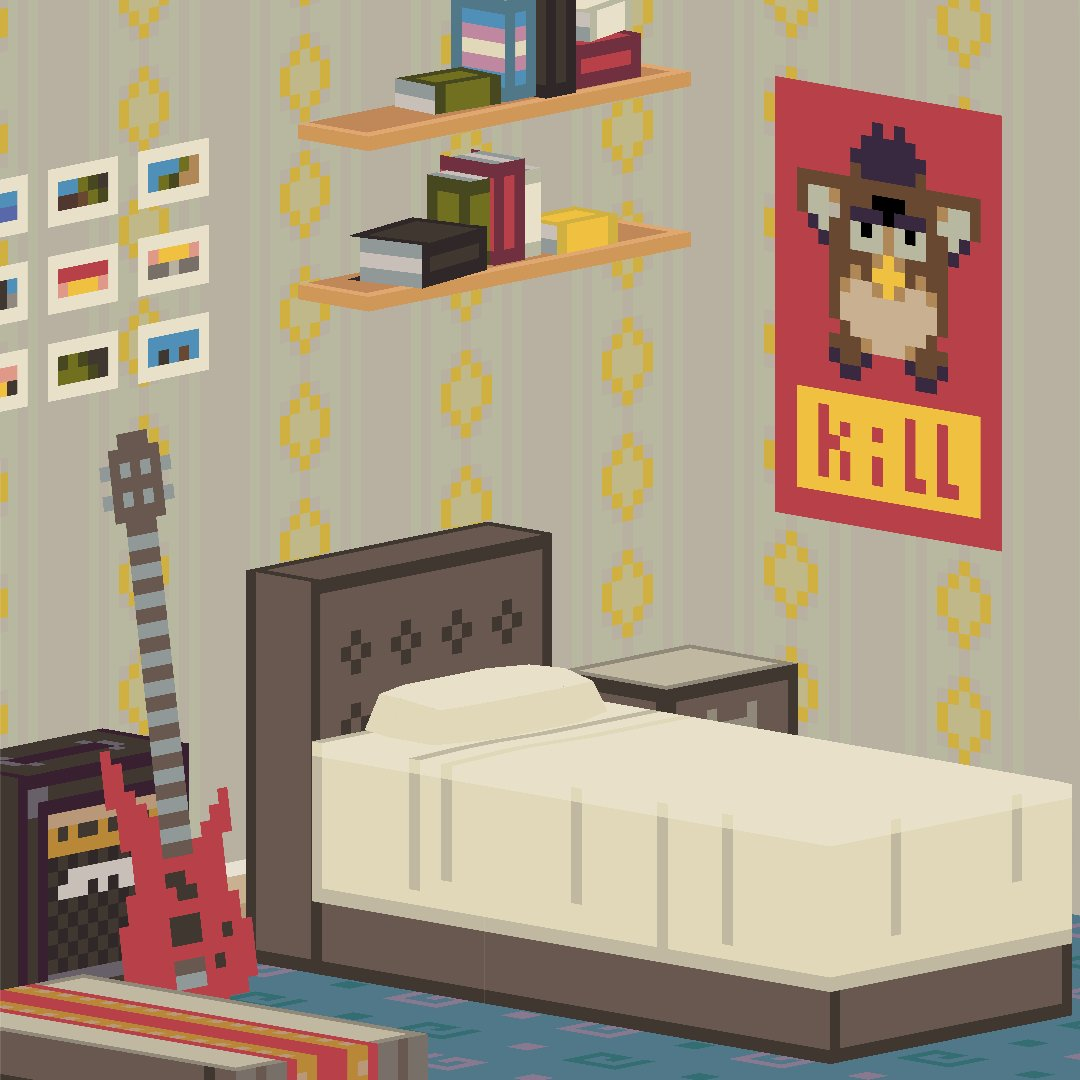 Shelflife On Twitter Still Under Construction But Here S A Quick Peek At The Bedroom Of Robbie Robbie Is One Of Our Protagonist S Housemates And Is A Close Supportive Pal P S Having A