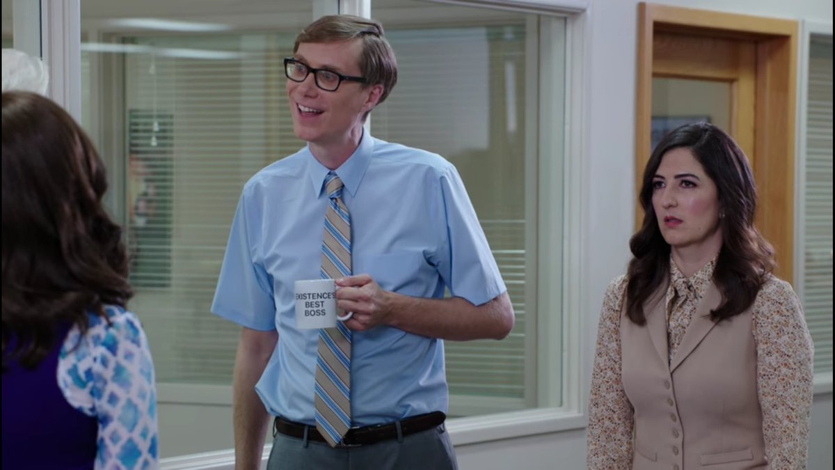 Did anyone else notice the reference to @theofficenbc on the @TheGoodPlaceNBC?! #theoffice x #TheGoodPlace https://t.co/560PUseSd8