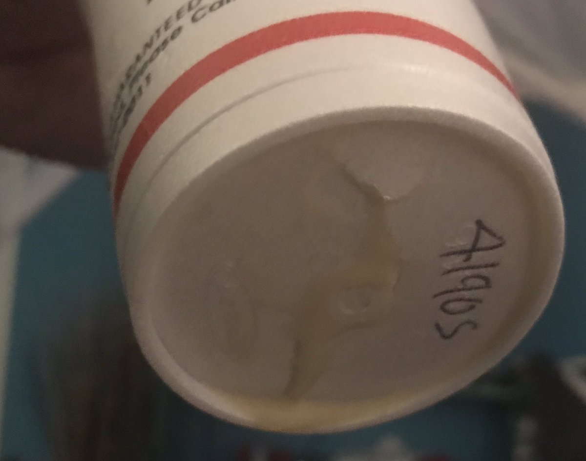 Oh come on @CookOut  you're killing me! 3rd cup that has been cracked/had a hole in the bottom at Washington NC location. 🤦🏻‍♀️  #stickymilkshake or #stickysweettea all over the cup holders and this one made it into the house.  🥺 #ripmilkshake #cookoutrestaurant #cookout