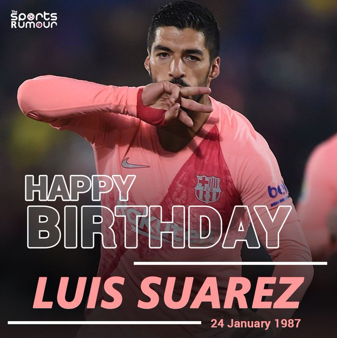 Barcelona striker Luis Suarez turns 32 today. Join us in wishing him a very Happy Birthday!