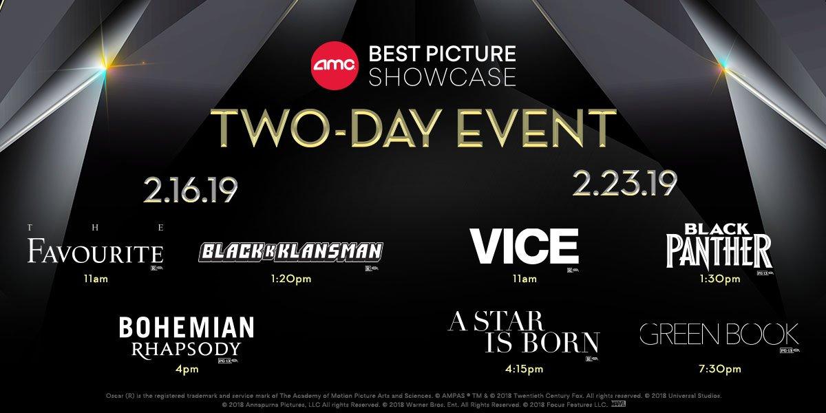 Amc Best Picture Showcase 2020 Dates AMC Theatres on Twitter: